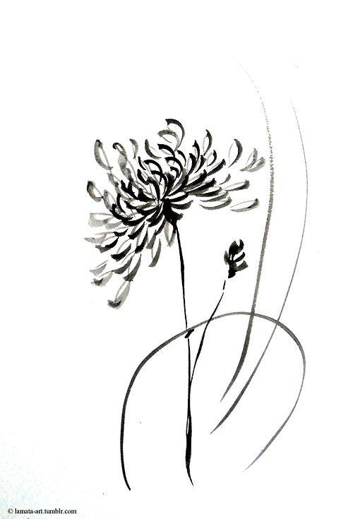 Chrysanthemum Chrysanthemum Tattoo Tattoos Wildflower Drawing