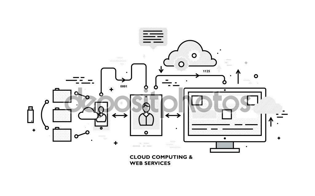 Data Analysis and Cloud Computing — Stock Illustration