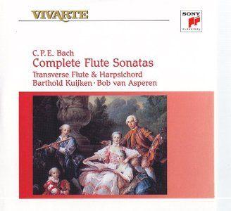 Bach C.P.E. - Complete Flute Sonatas (Barthold Kuijken, Bob van Asperen) [1993]