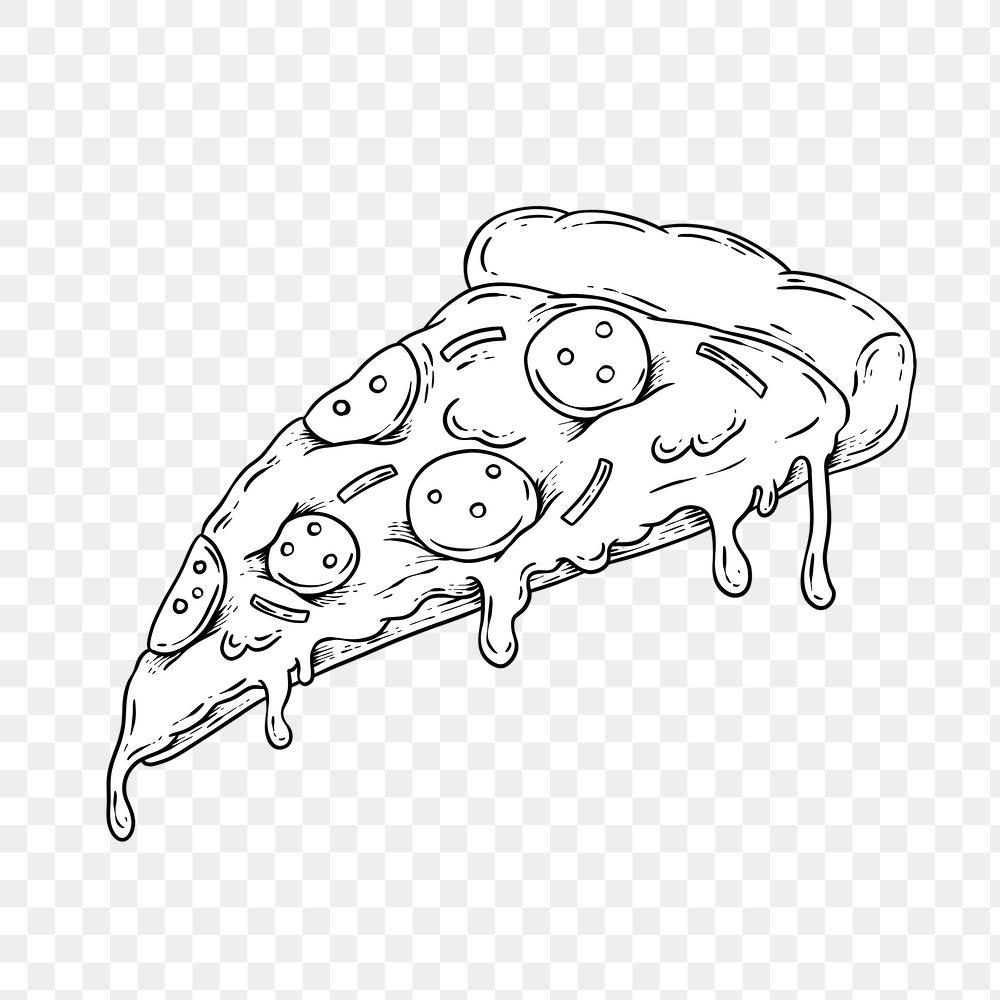 Pepperoni Pizza Outline Sticker Overlay Design Element Free Image By Rawpixel Com Noon In 2021 Black Stickers Free Png Free Illustrations