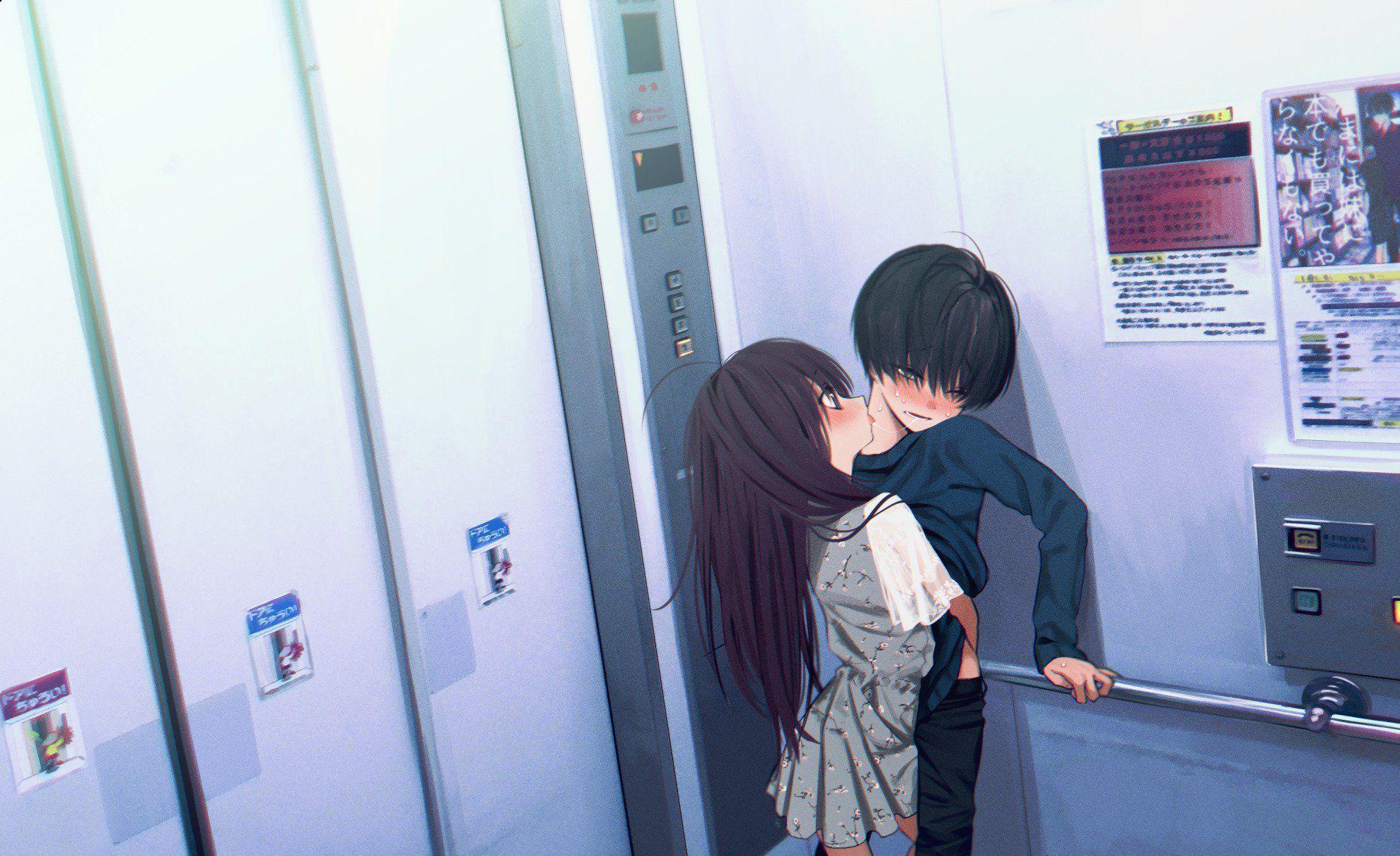 本領はなる On アニメのかわいいカップル ゴシックアニメ