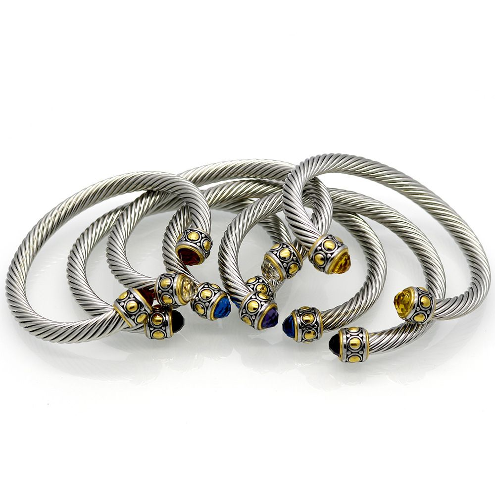 Compare Prices 60Mm Cable Bracelet Luxury Gold Color Stainlee Steel ...