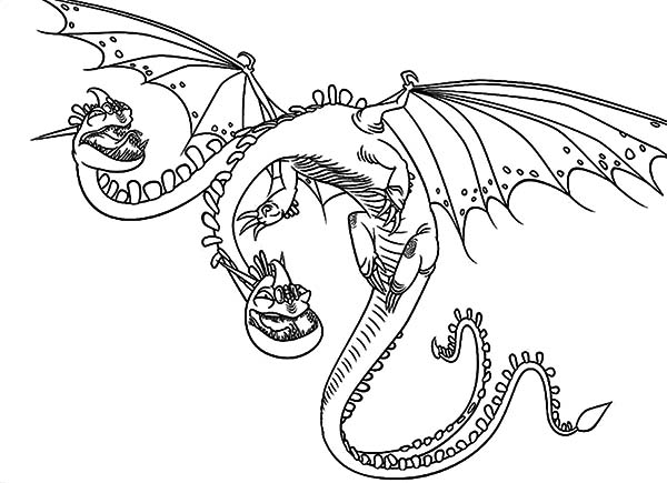 Zippleback Twin Heads Dragon In How To Train Your Dragon Coloring Pages Coloring Sky Detailed Coloring Pages Dragon Coloring Page How Train Your Dragon