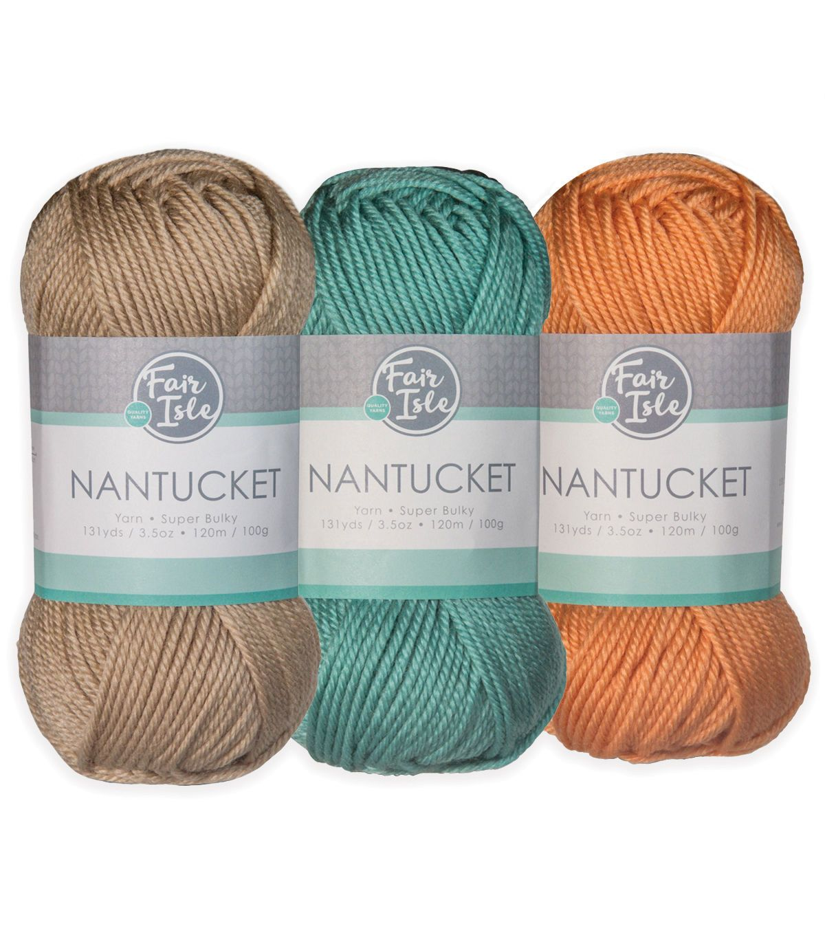 Fair Isle Nantucket Yarn-Aquatic 3 Pack