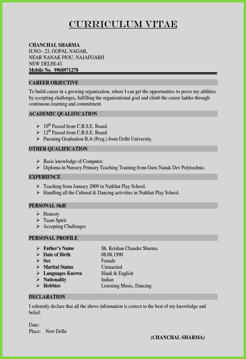 Pin By Maywan On Maywang Sample Resume Format Job Resume Format