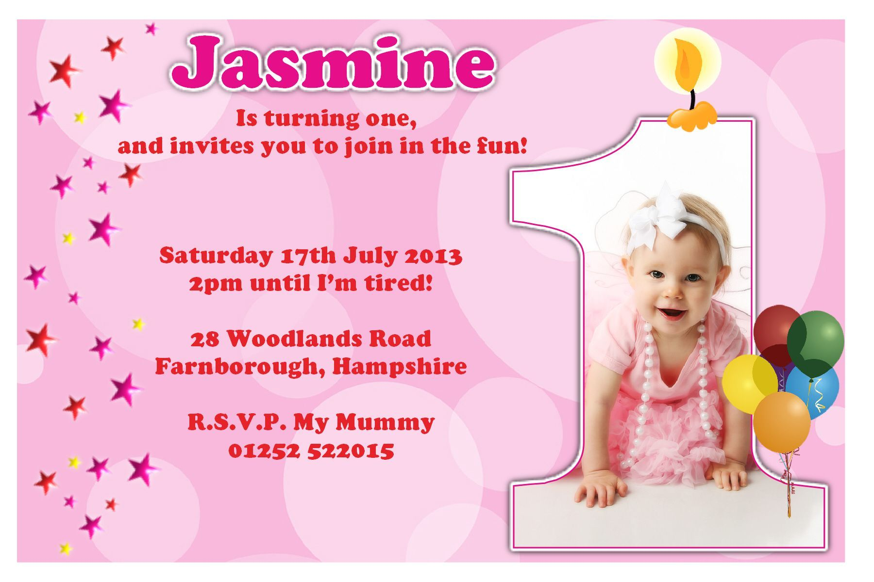 Download Now First Birthday Party Invitation Ideas  Birthday