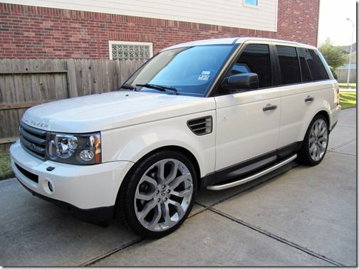 Modifications To A 2008 White Land Rover Range Rover Sport Hse Range Rover Sport Range Rover Land Rover Sport