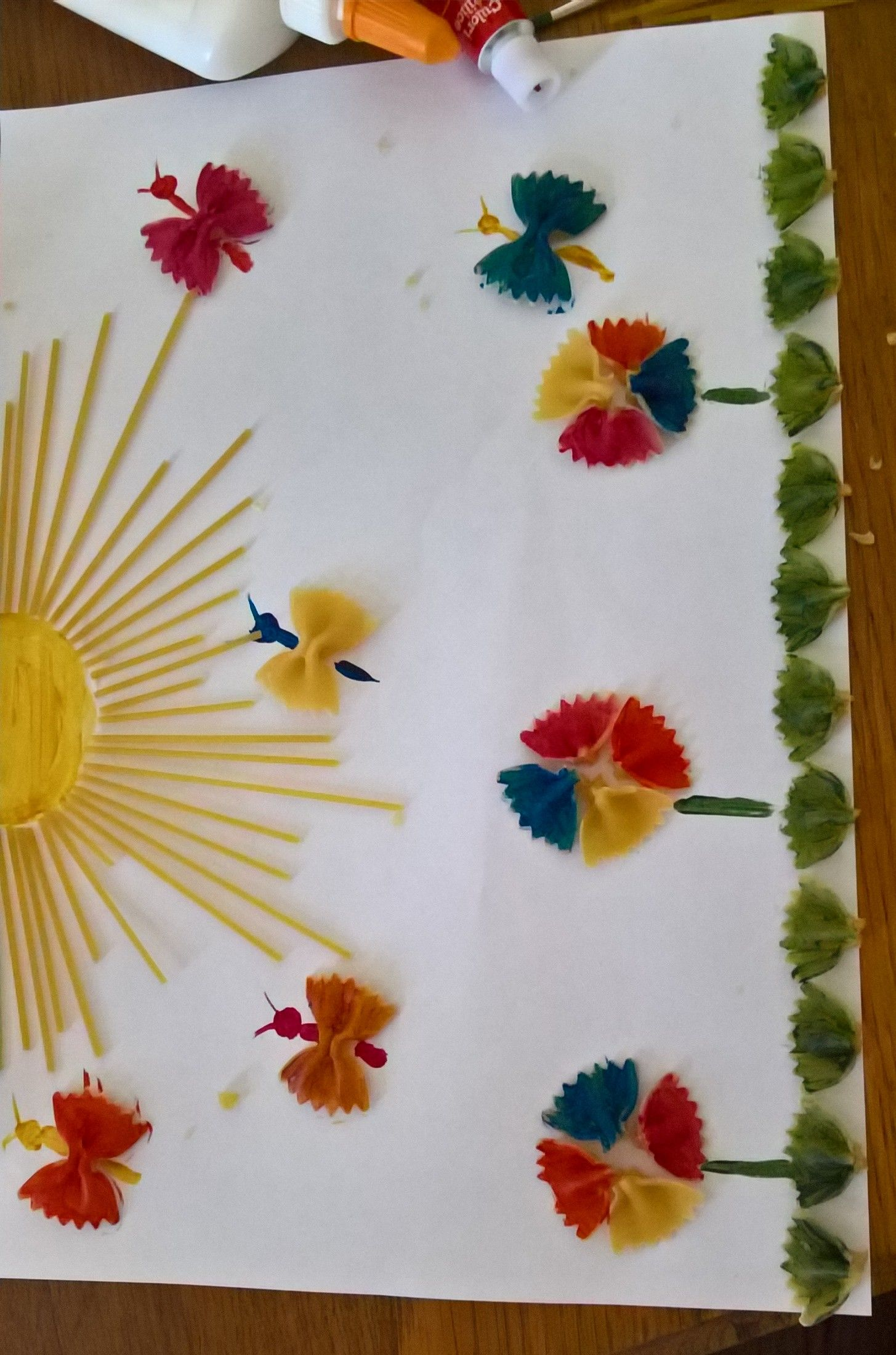 Pasta Craft Kids Crafts Faaliyetler Bahar