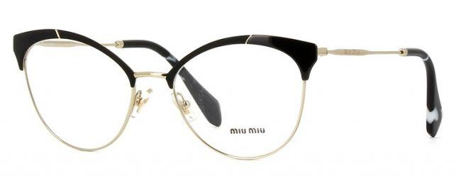 Óculos de grau Miu Miu 50PV Preto   Sung 2e4bbec37f
