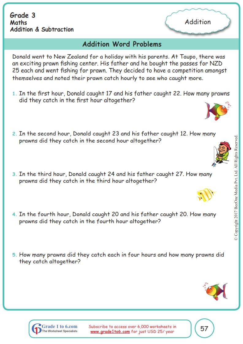 Grade 3 Class 3 Word Problems Worksheets Addition Word Problems Word Problems Word Problem Worksheets