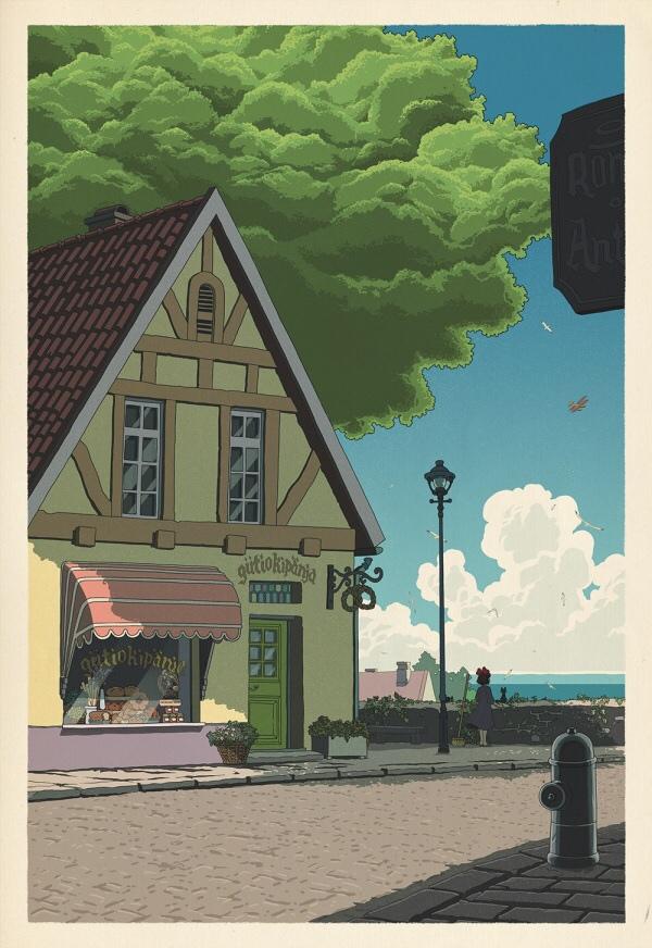 Miyazaki tribute prints inspired by Japanese woodblock art