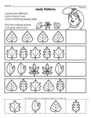 results for leaf pattern kindergarten worksheet guest the mailbox pomoce. Black Bedroom Furniture Sets. Home Design Ideas