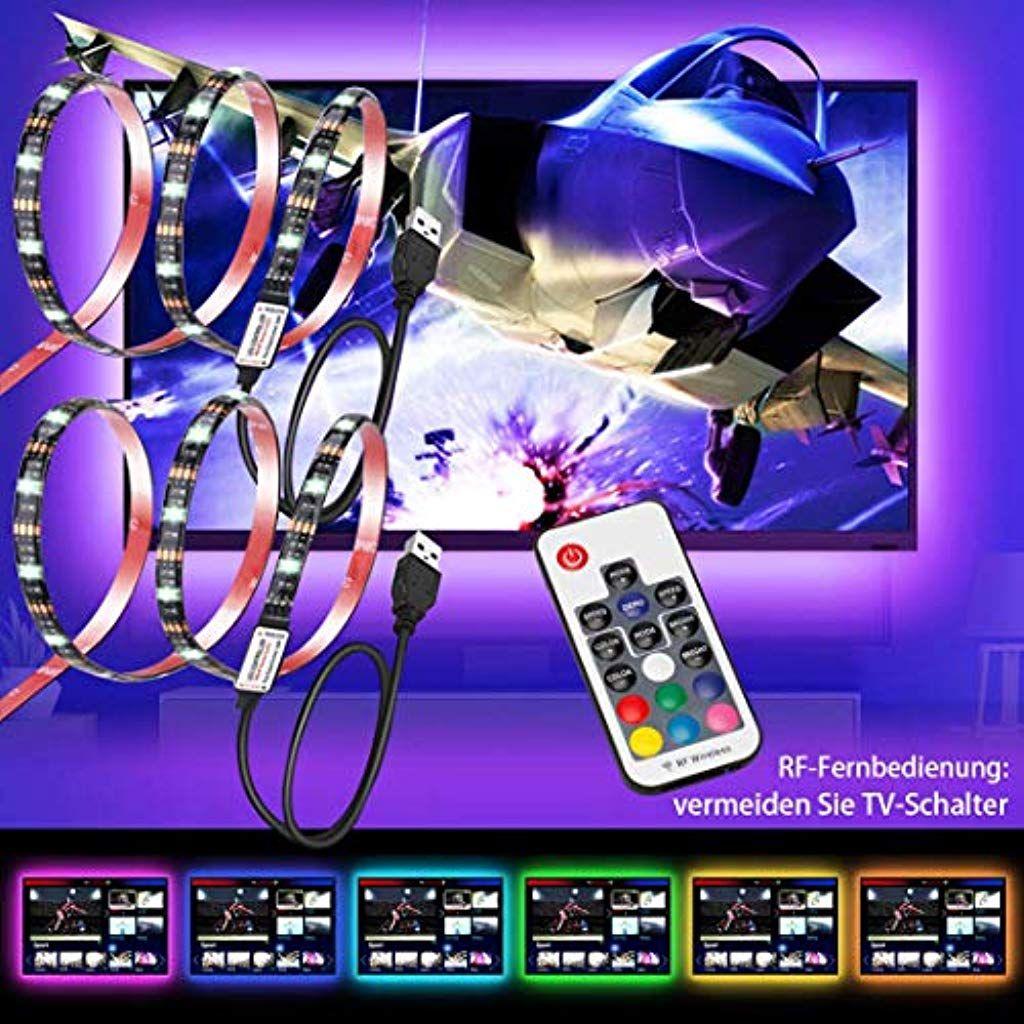 Led Streifen Hintergrundbeleuchtung Tv 2 Pack Usb 78zoll Fr 20 45 Zoll Hd Fernseher Bildschirm Und Pc Monitor L Hintergrundbeleuchtung Led Streifen Beleuchtung