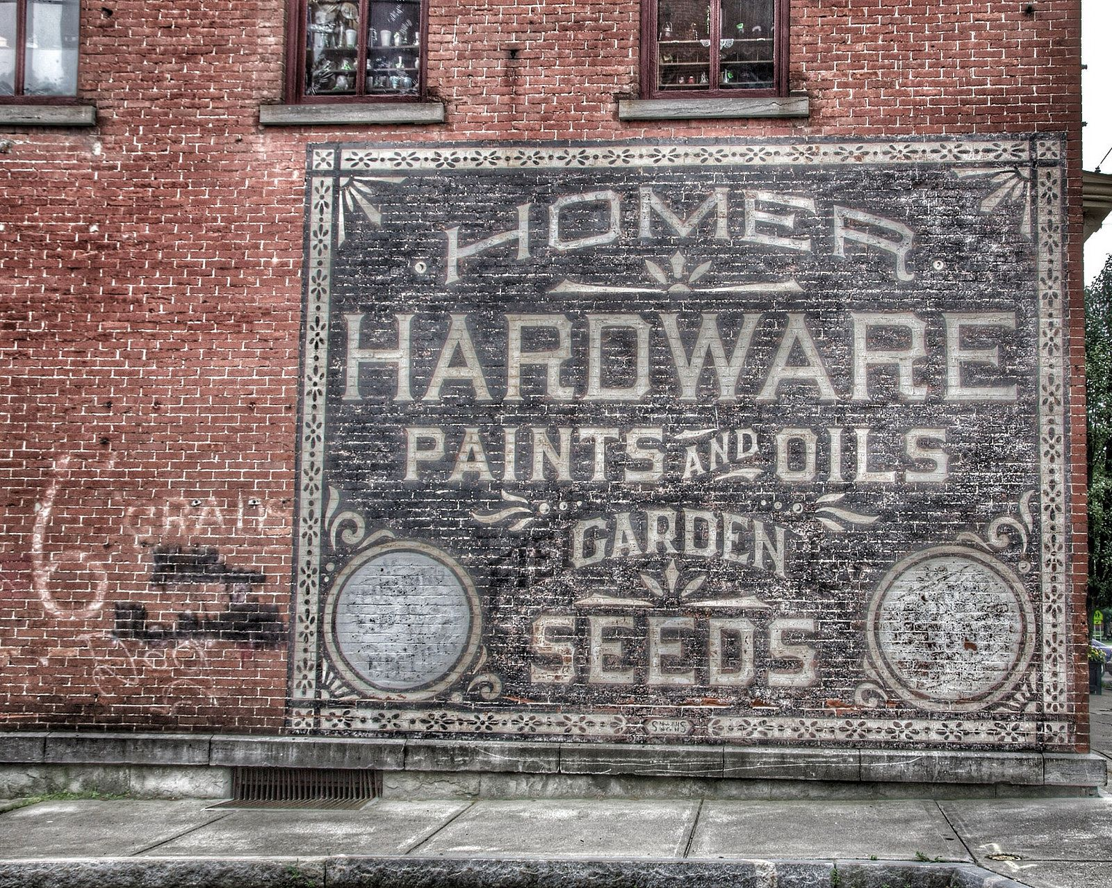 Homer Ny Hardware Store Ghost Sign Historic District