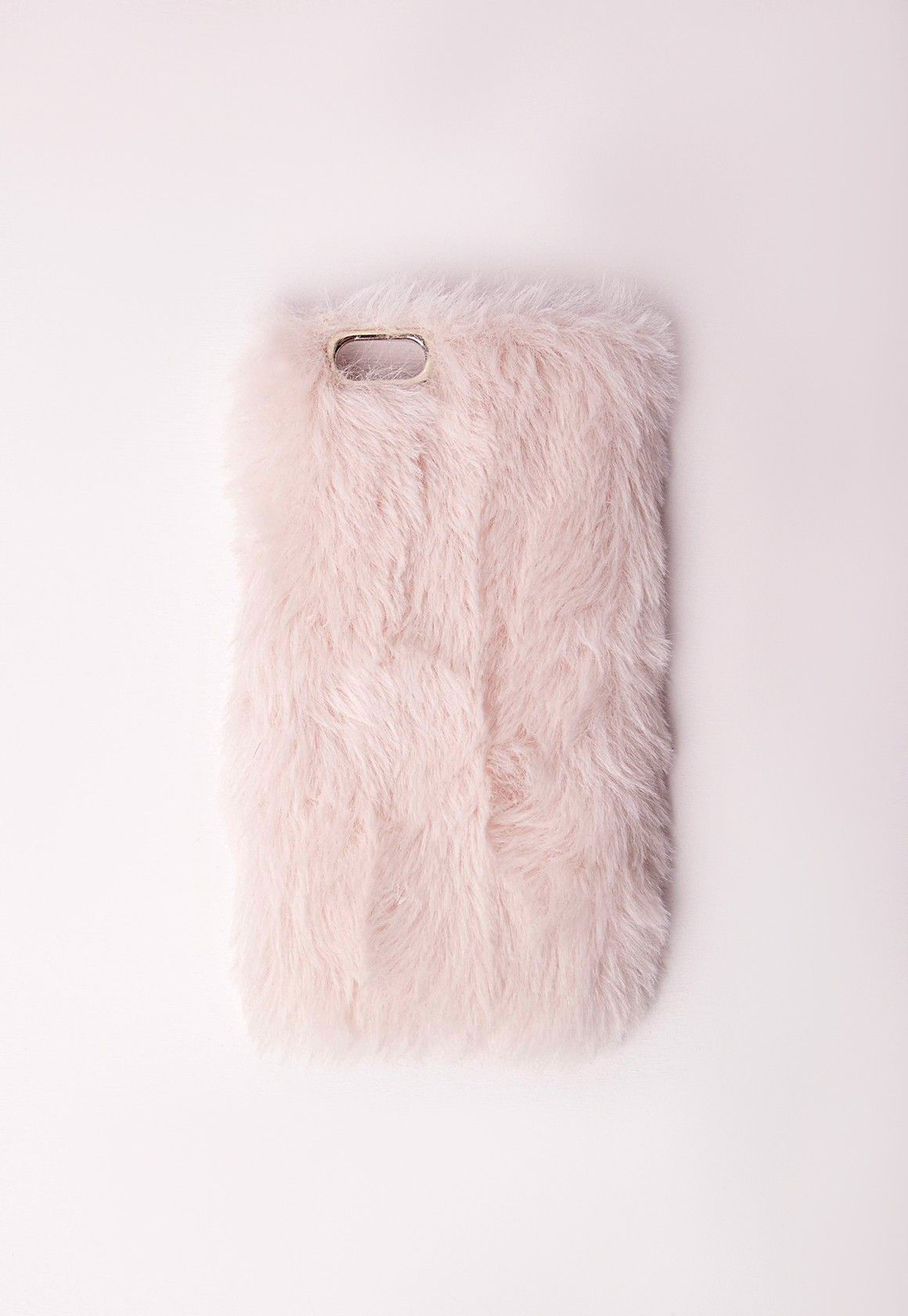 official photos 5e7c6 8d6b4 Fluffy iPhone 6 Case Pink - Accessories - Phone Cases - Missguided ...