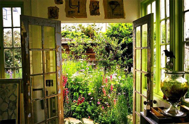 The garden outside the studio of artist Lynn Hanson,
