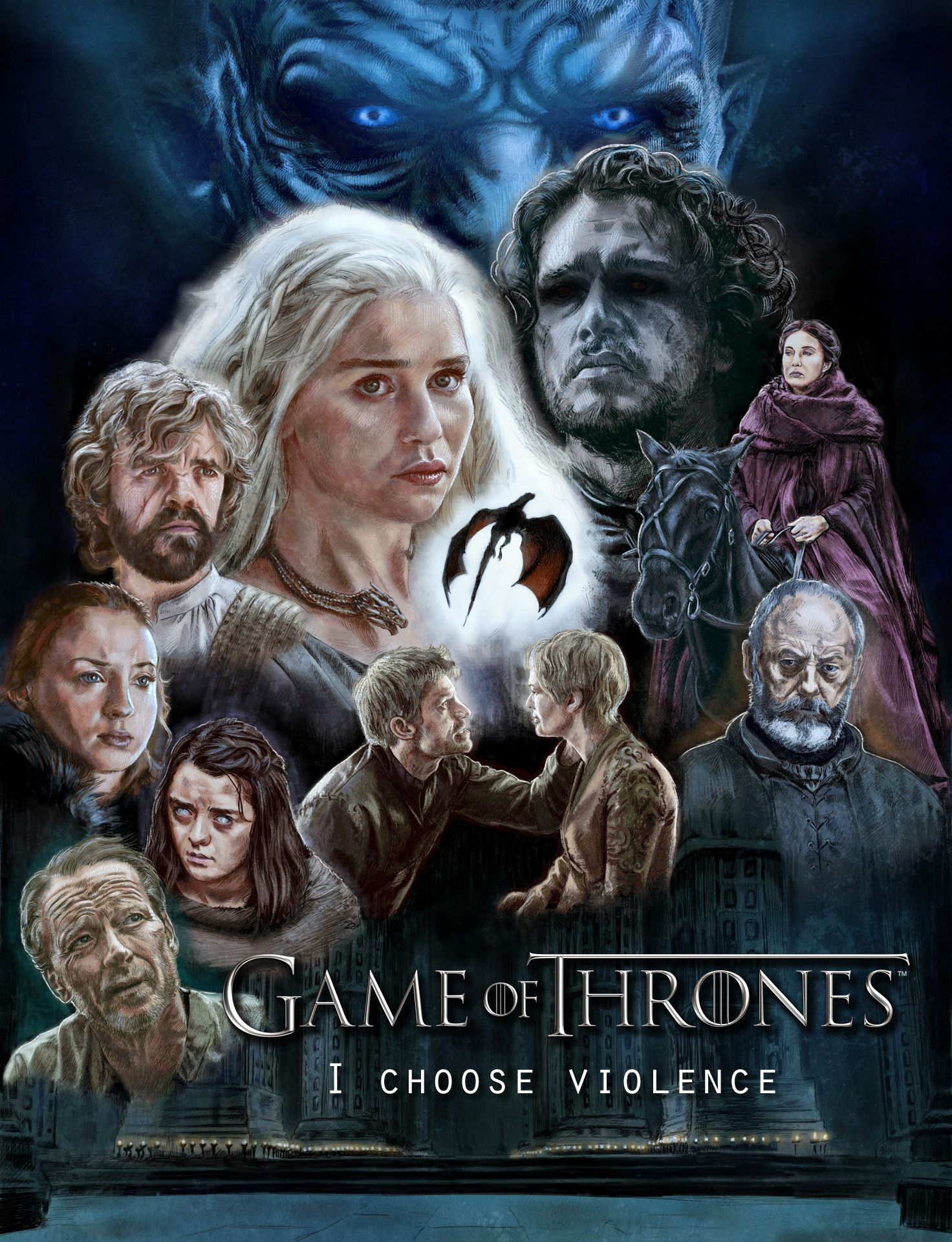 Game Of Thrones Season 6 Fan Art Poster Game Of Thrones Artwork Game Of Thrones Tv Game Of Thrones Art