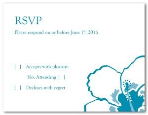 Hibiscus Wedding Response Card | RSVP Cards | Pinterest | Response ...