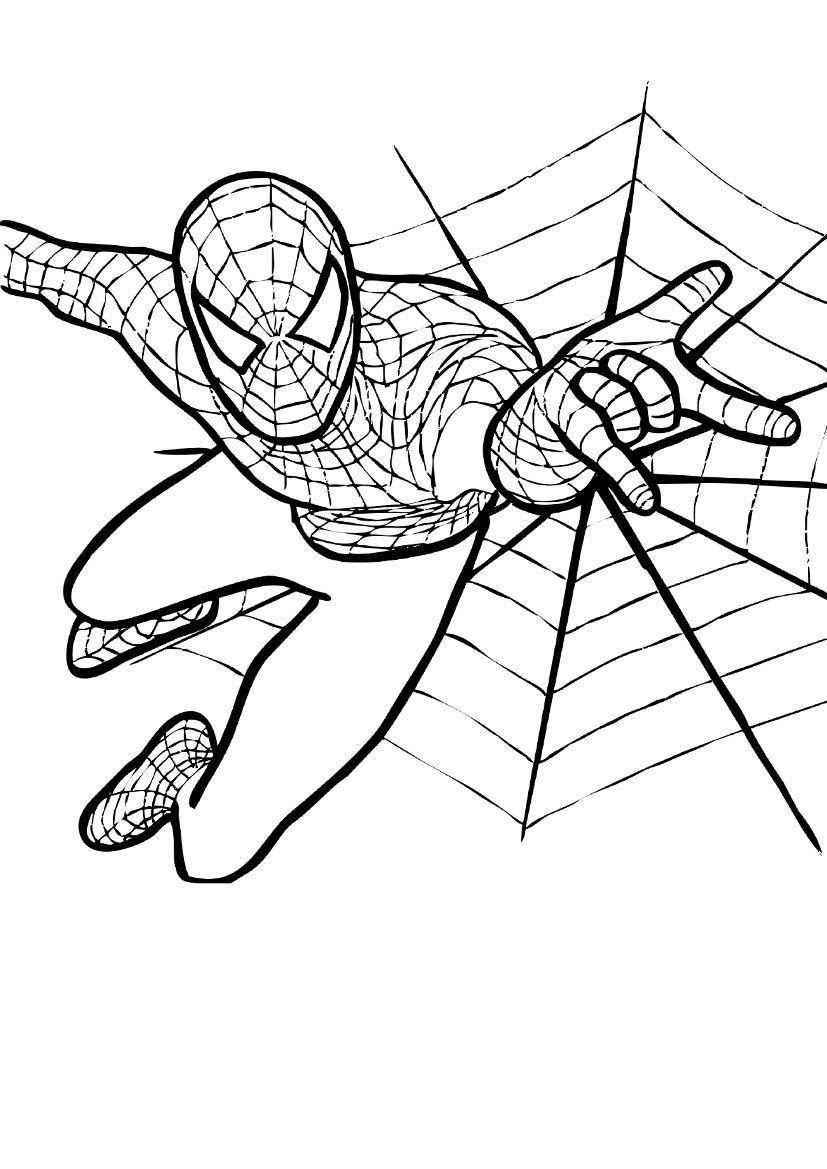 Spiderman Coloring Pages Jpg 827 1169 Spiderman Coloring Spider Coloring Page Free Printable Coloring Pages