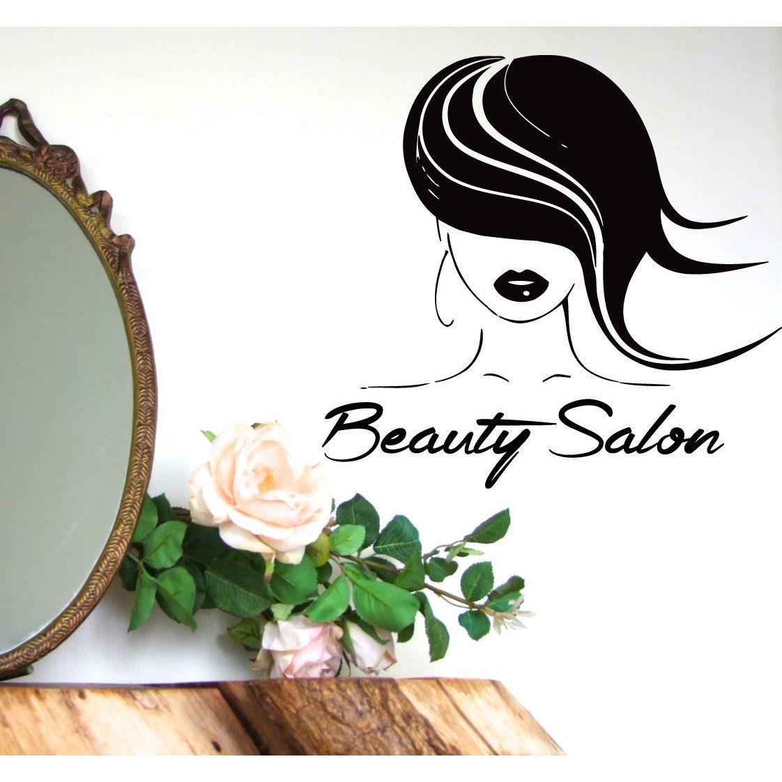 Hair beauty salon sticker vinyl wall art inches x inches