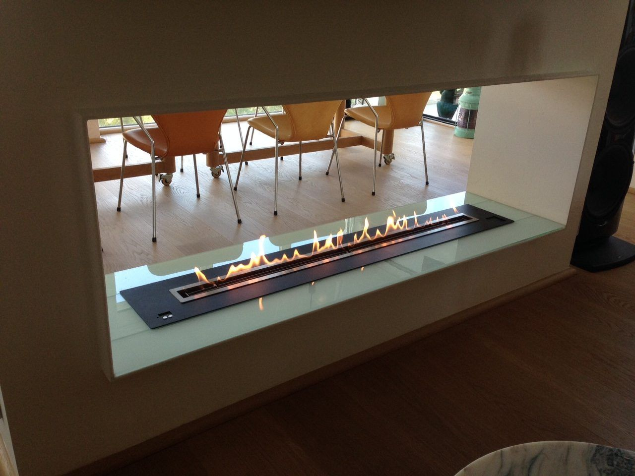 Remote Controlled Ethanol Fireplace Ethanol Burner Insert Double Sided Fireplace Ethanol Fireplace Fireplace Design