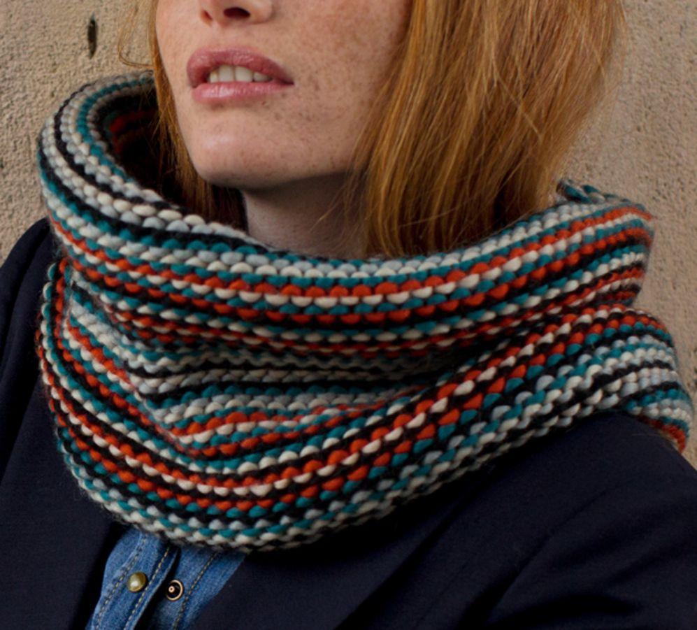 Modèle snood mixte - Modèles Femme - Phildar   Tricot   Pinterest   Phildar, Modèle et Essayer