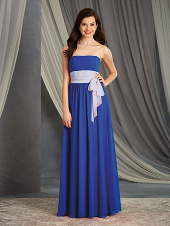 A Long Chiffon Bridesmaid Dress with an A-Line Silhouette, Floor ...