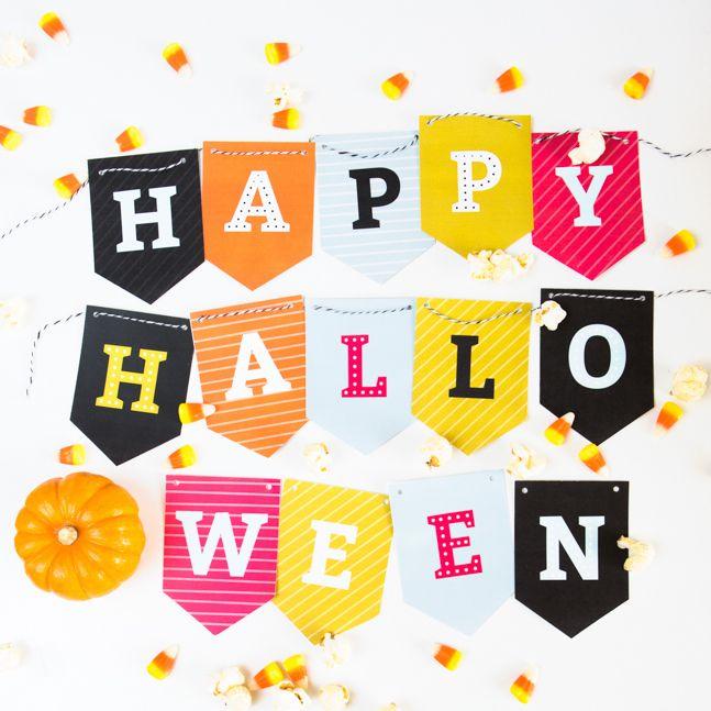 Free Printable Halloween Banner Traditional, Free printable and - free halloween decorations printable