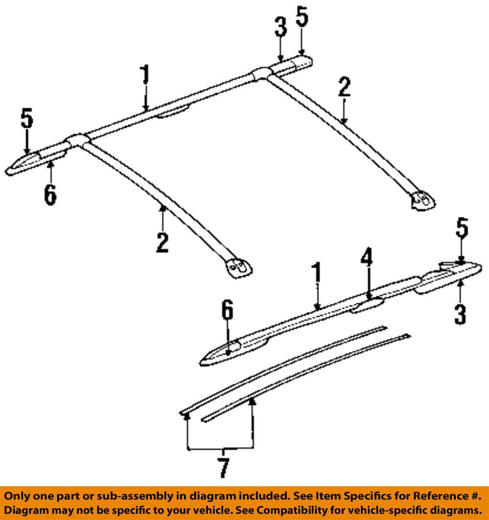 Chrysler Roof Rack Rail Luggage Carrier Cover Left 4676647