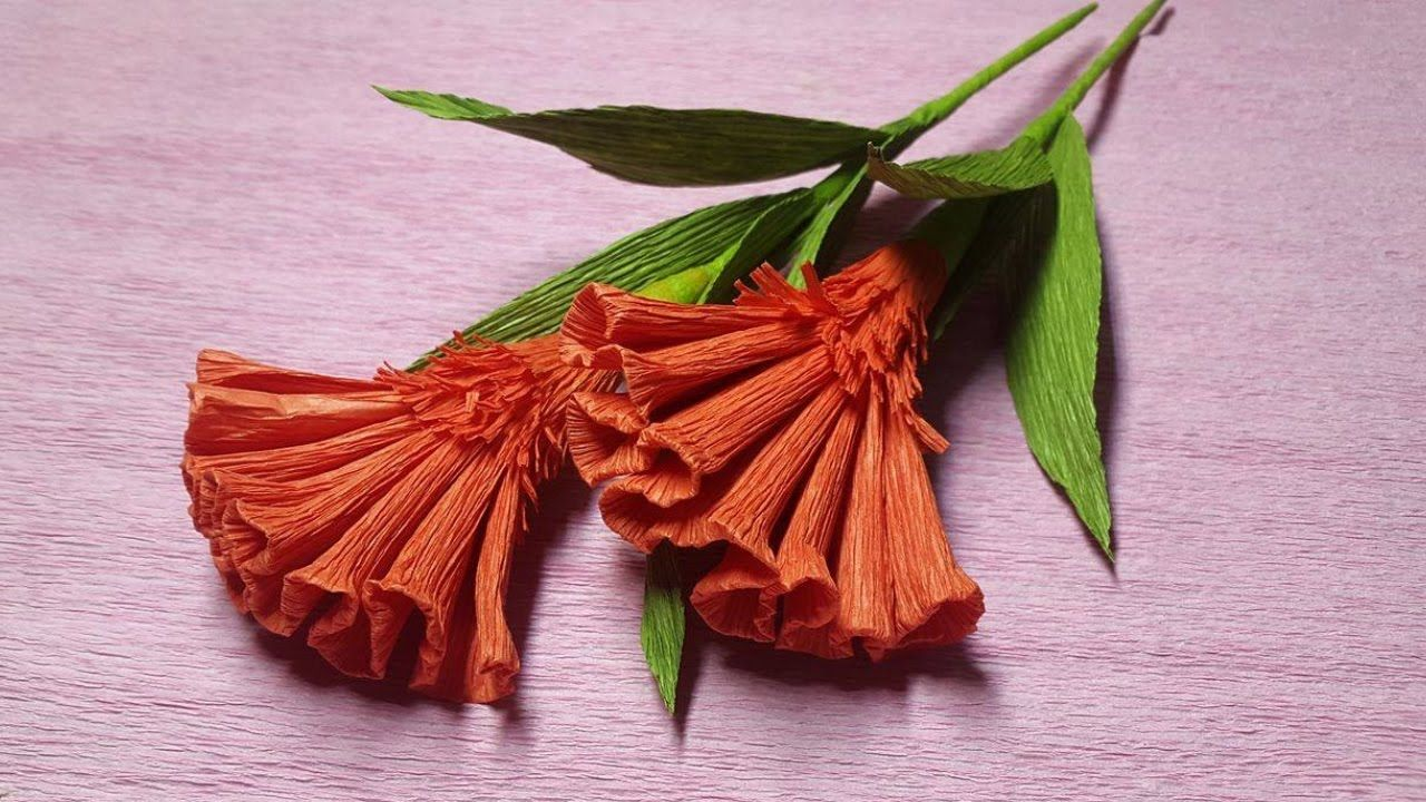 How To Make Cockscomb Crepe Paper Flowers Flower Making Of Crepe