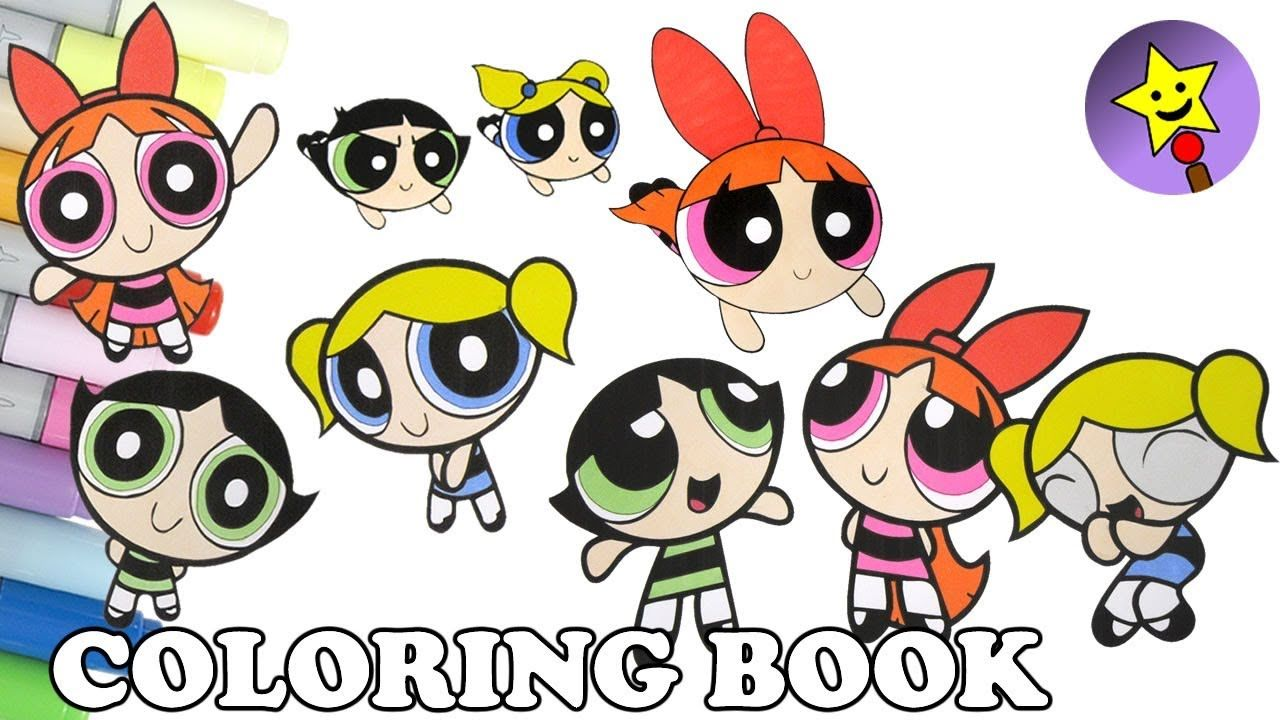 Powerpuff Girls Coloring Book Compilation 8 Buttercup Bubbles ...