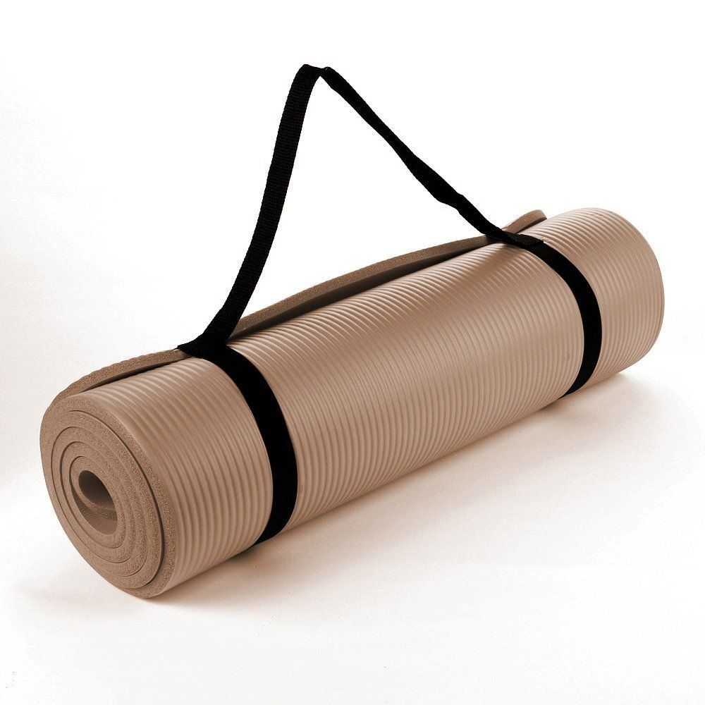 Nbr Foam Yoga Mat 190cm Brown Toffee Thick Yoga Mats Yoga Mat Mat Exercises