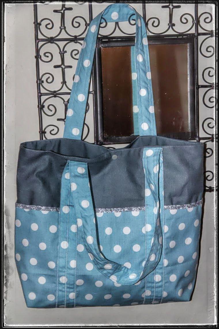 Laisse luciefer le pratique sac cabas multi poches couture sacs pochettes tutos et - Tuto grand sac cabas ...