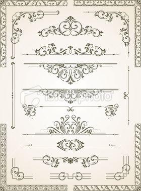 Vectorized Scroll Set Royalty Free Stock Vector Art Illustration