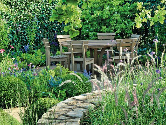 Sitzplatz im Garten nach Feng Shui Garten Pinterest