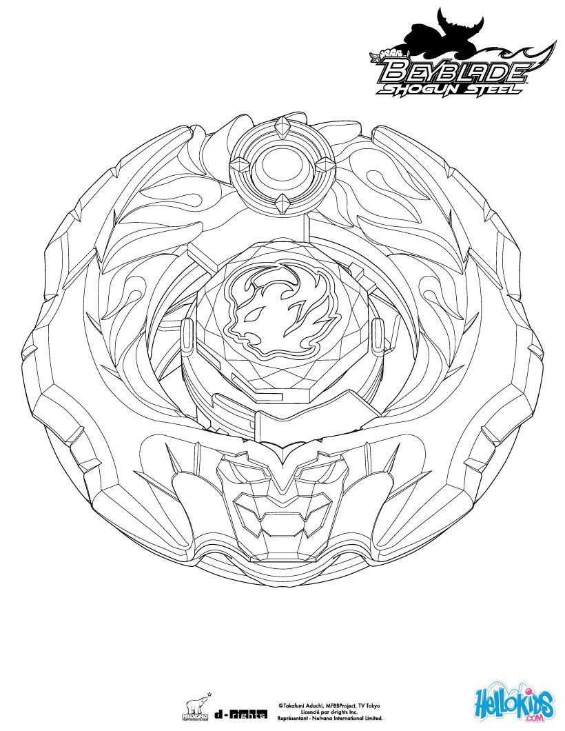 Ifrit coloring page. More Beyblade coloring sheets on