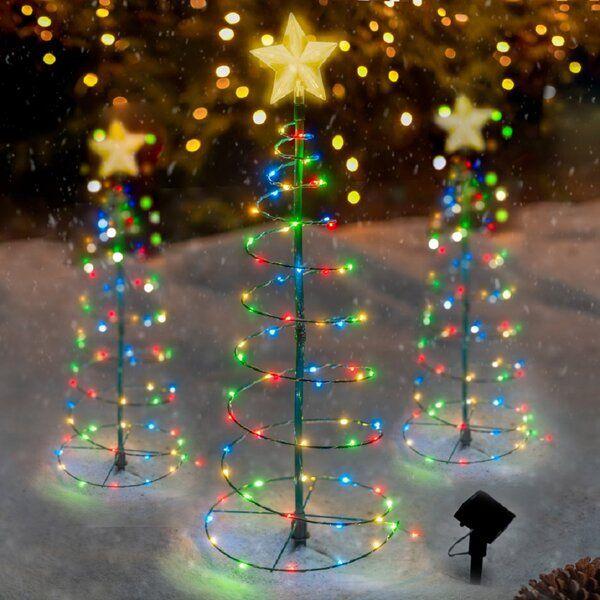 Merrylite Led Christmas 70 Light Solar Lighted Trees Branches Metal Christmas Tree Led Christmas Tree Solar Christmas Lights