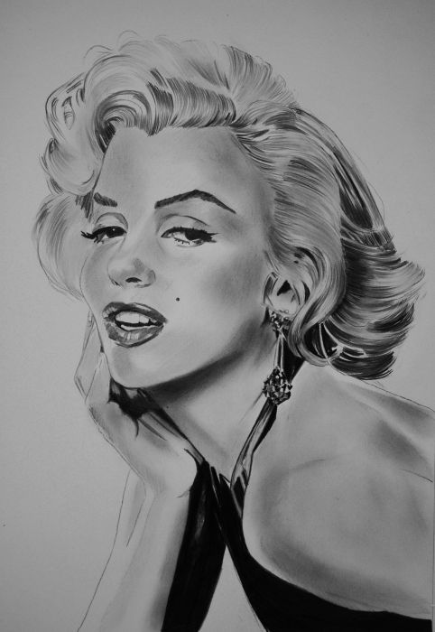 Marilyn Monroe by umberto | This image first pinned to Marilyn Monroe Art board,…