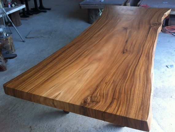live edge dining table reclaimed acacia wood solid slab extremely rare size dream house. Black Bedroom Furniture Sets. Home Design Ideas