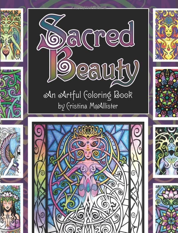 Amazon Sacred Beauty An Artful Coloring Book By Cristina McAllister 9781516976133