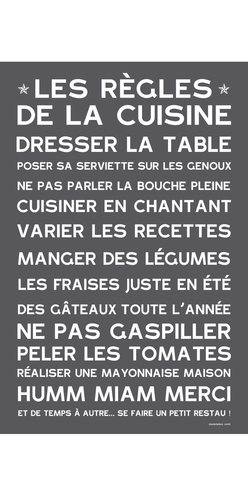manifeste de la cuisine ardoise citation pinterest organizations messages and kitchens. Black Bedroom Furniture Sets. Home Design Ideas