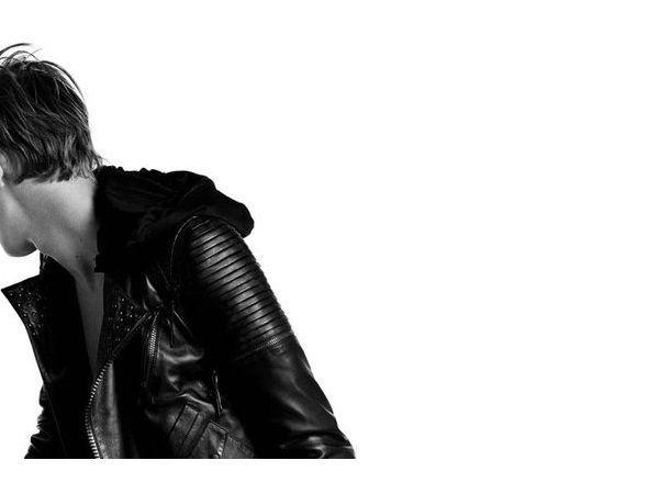 Dior Homme 04ss Quotstripquot Biker Jacket Stud Belt 44 Xs Hedi