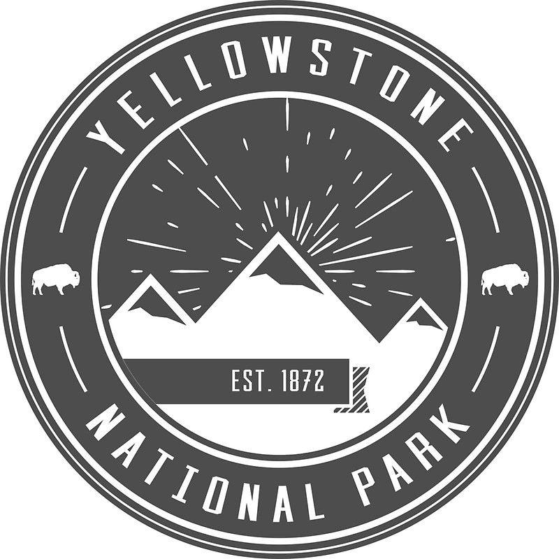 'Yellowstone National Park Logo' Sticker by nationalparks