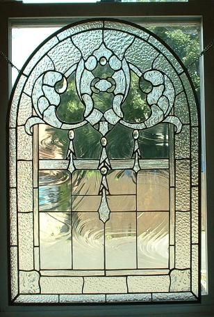 Custom Stained Glass Window Panels.Clear Texture Arched Window Panel Stained Glass Custom