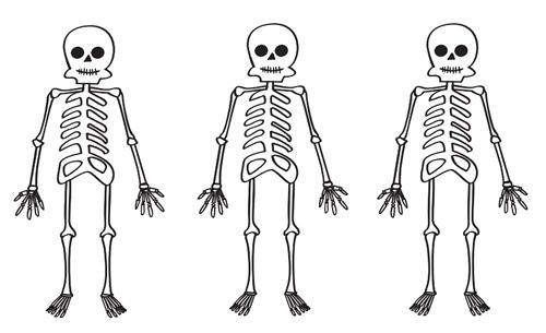 Esqueleto Para Recortar Y Colorear Manualidades Esqueleto Esqueleto Dibujo Dibujos