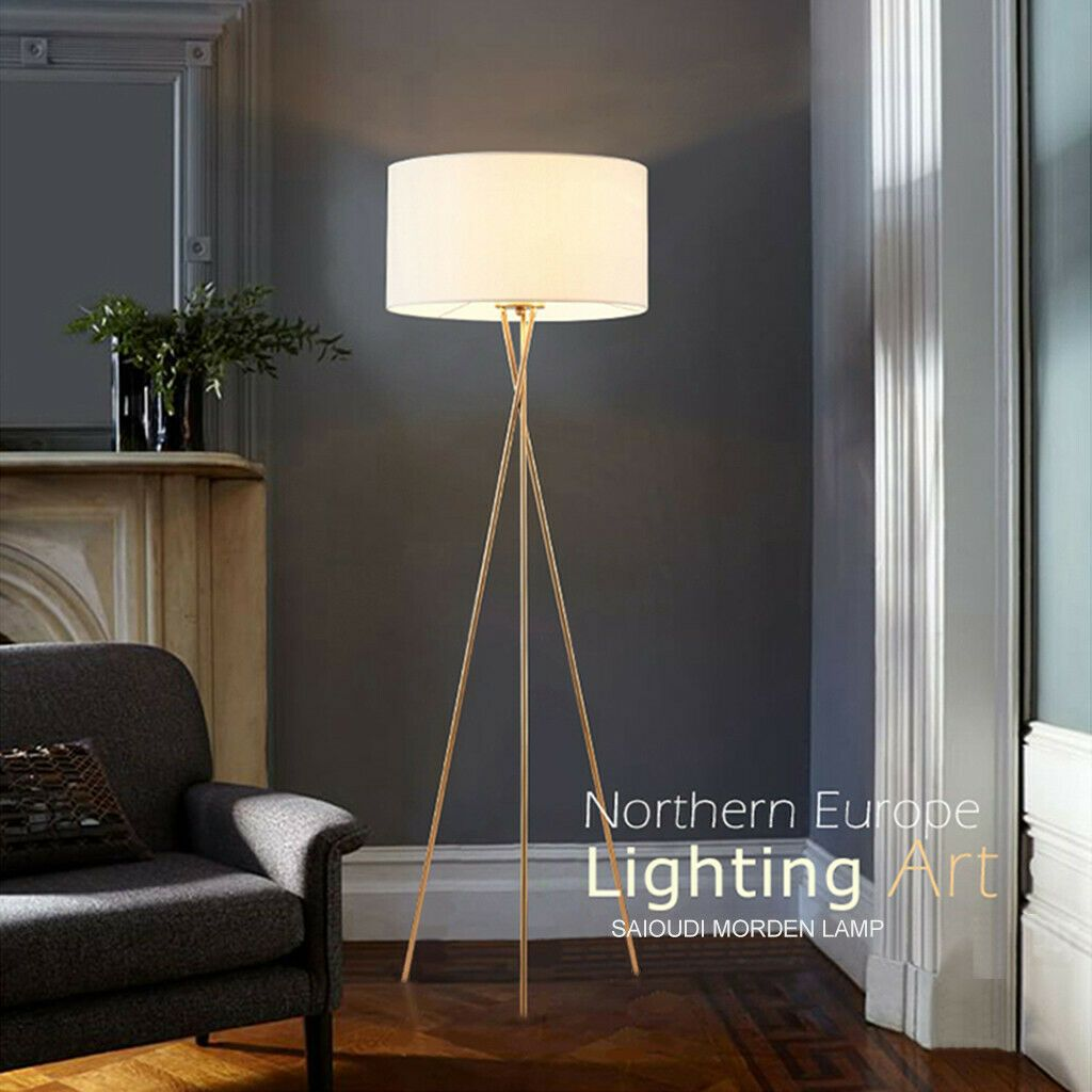 Tripod Floor Lamp Bedroom Bedside Lamp Creative Led Floor Lamp