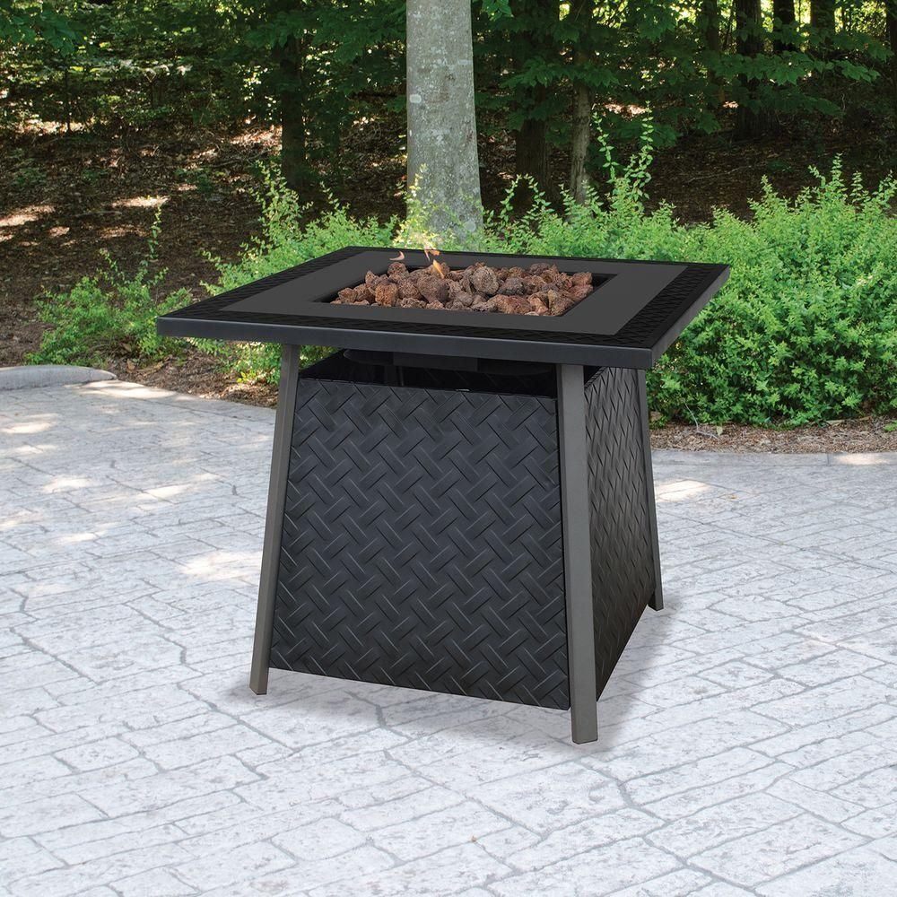 Uniflame Propane Gas Fire Pit Gad1325sp The Home Depot