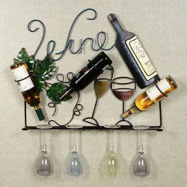 Francesca Wall Wine Bottle Holder   Sweet Home   Pinterest   Wine ...