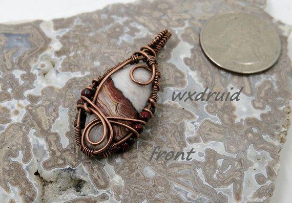 Kupfer Draht gewickelt Anhänger, Semi Precious Stone Hand mit ...