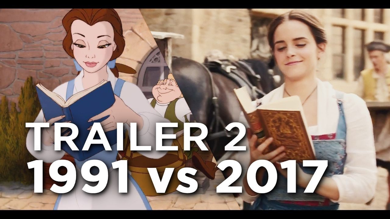 Beauty and the Beast Trailer vs ComparisonSide by